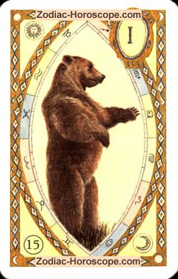 The bear, monthly Love and Health horoscope October Capricorn