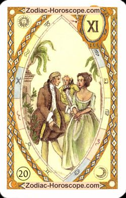 The garden astrological Lenormand Tarot
