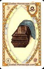 The Coffin astrological Lenormand Tarot