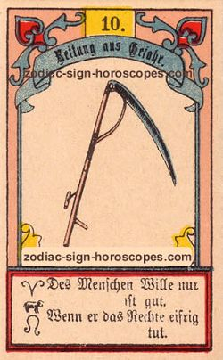 The scythe, monthly Capricorn horoscope August