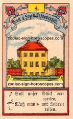 The house antique Lenormand Tarot