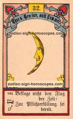 The moon antique Lenormand Tarot